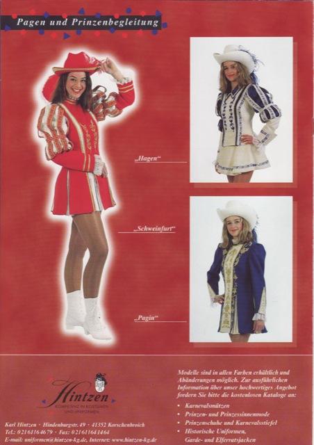 Garde-Kostüme Katalog Seite 4
